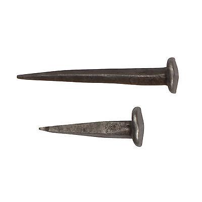 Handgeschmiedet Nägel Eisennägel Mittelalter Nagel antik Zinn-Effekt 35mm 65mm - Eisen Geschmiedet Eisen