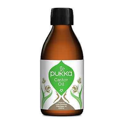 Pukka Herbs organico olio di ricino 250ml - PRESSATO A FREDDO - Vegano