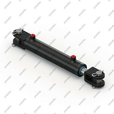 2 Bore 8 Stroke Hydraulic Welded Cylinder - Clevis Ports Are 180 Wpins