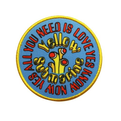 The Beatles Yellow Submarine Sub AYNIL Circle Printed Sew On Patch -  074-S