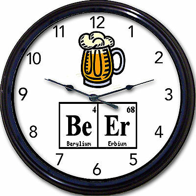 Beer Chemistry Wall Clock Mug Ale Brew Elements Periodic Table Breaking Bad 10""