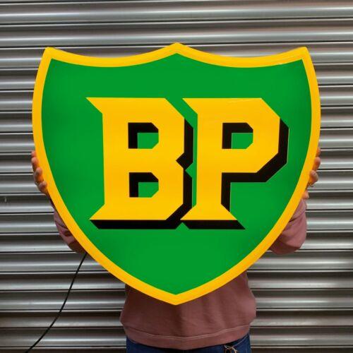 1947 BP LED ILLUMINATED LIGHT BOX WALL SIGN GARAGE OIL GAS STATION AUTOMOBILIA