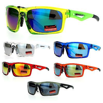 Neon Plastic Sunglasses (Xloop Motocross Mens Plastic Aerodynamic Neon Sport)