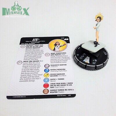Heroclix Justice League Unlimited set Ace #058 Super Rare figure w/card!