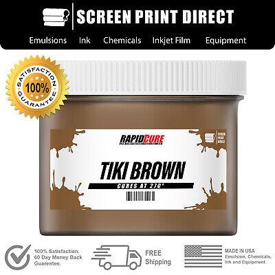 Tiki Brown - Screen Printing Plastisol Ink - Low Temp Cure 270f - 8oz