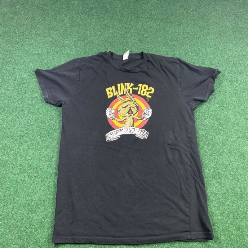Blink 182 PPK Crappy Van Bunny T-shirt Cotton Small Gift Music Band Black