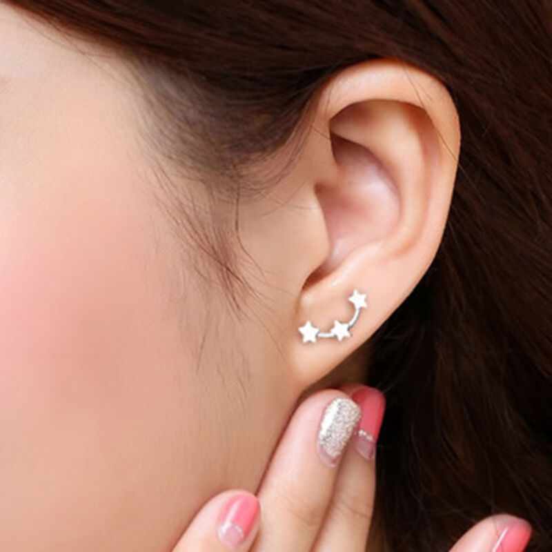 Jewellery - HOT Women 925 Sterling Silver 3 Star Stud Earrings Ear Jewellery UK Seller
