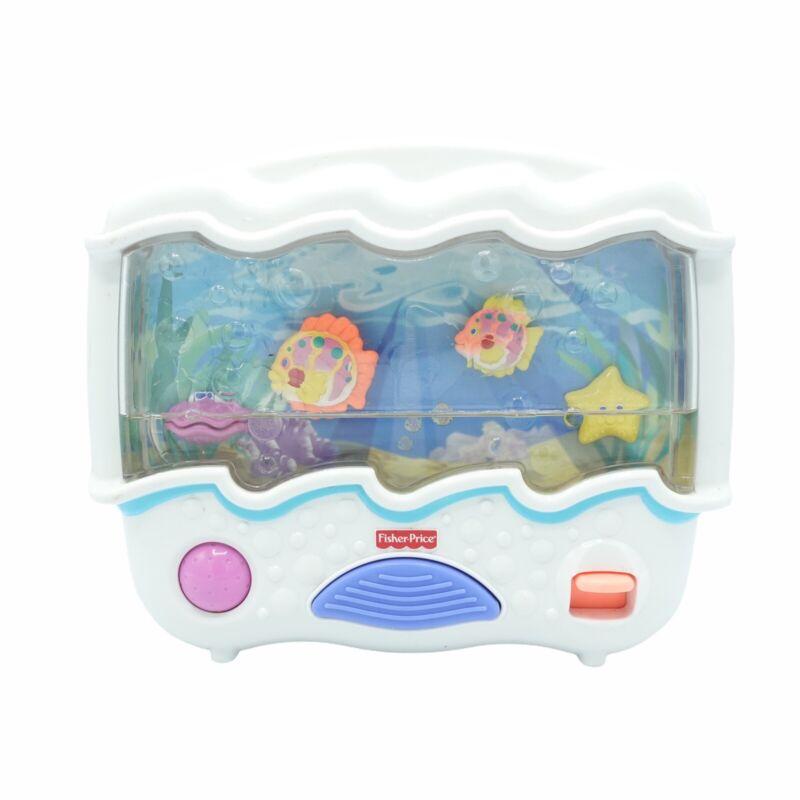2002 Fisher Price Ocean Wonders Aquarium Sounds Lights Crib Soother - Low Water