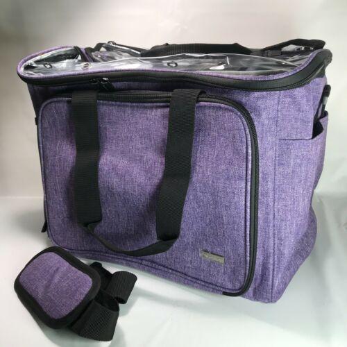 Knitting and Crochet Craft Organizer Storage Bag Tote Purple
