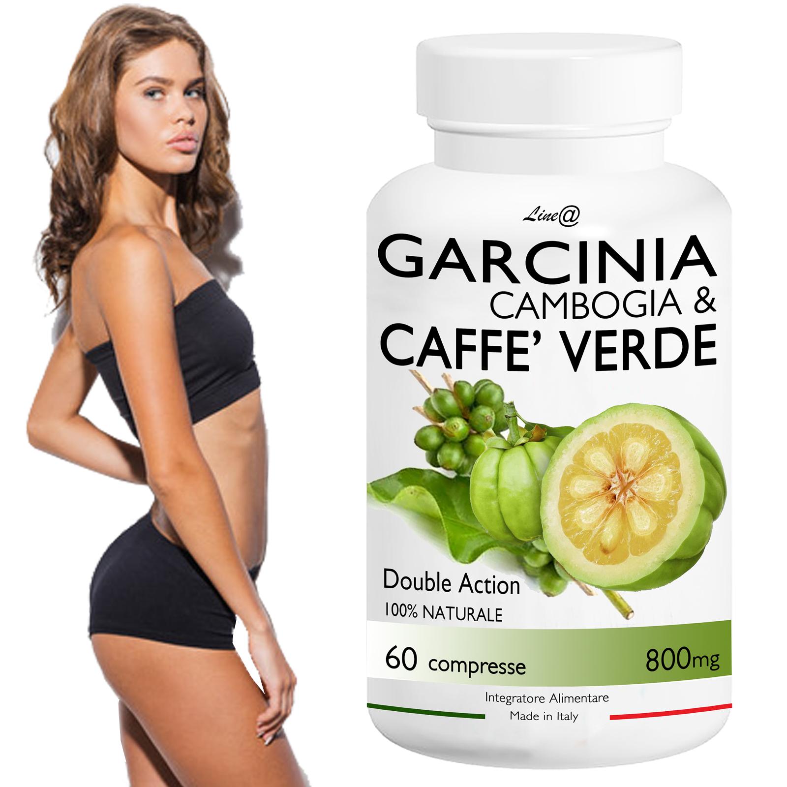 GARCINIA Cambogia&CAFFE' Verde/Double Action!60CPR Perdita Peso Dieta FAT BURNER