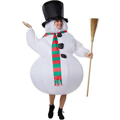 Unisex Kostüm aufblasbar Schneemann Weihnachten Winter Fasching - Weiße Schnee Kostüm