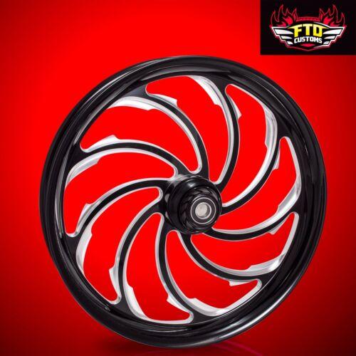 "Harley Davidson 30 Inch Black Contrast Front Wheel ""venom"""