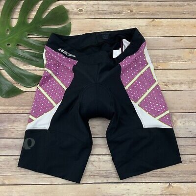 Pearl Izumi Womens Pro Leader In R Cool Cycling Shorts Size XL Black Purple
