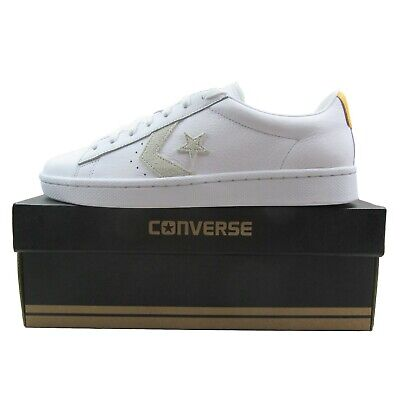 Converse Pro Leather PL 76 OX White Yellow Low Top 155322C Mens Multi Size
