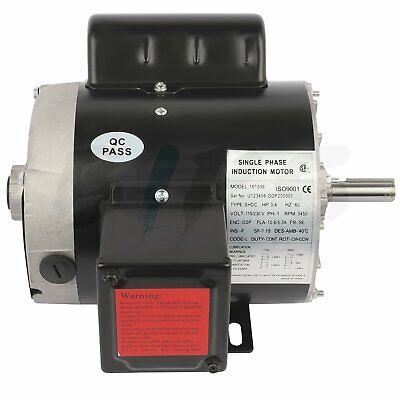 General Electric Motor 34 Hp 3450 Rpm 56 Frame Single Phase 58 Shaft 115230 V