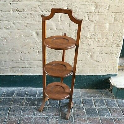 Vintage Wooden 3 Tier Cake/ Plant Stand - Collapsible