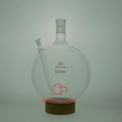 Proglass Flasksheavy Wallround Bottom With Thermowells2000ml 2440 And 1018