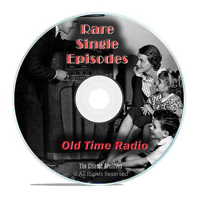 1,326 Old Time Radio, Rare Single Episodes, Old Lost Shows, mp3 2-DVD set G71