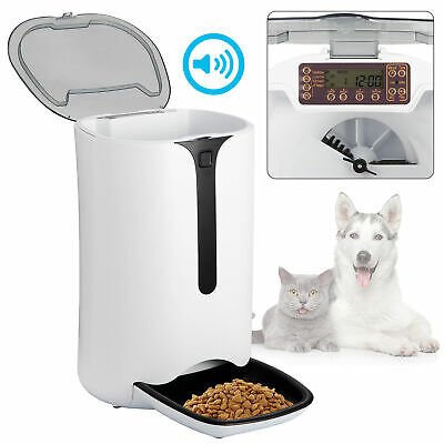 Automatic Pet Dog and Cat Feeder,4-Meal Auto Pet Feeder with Timer Programmable Automatic Pet Dog Cat