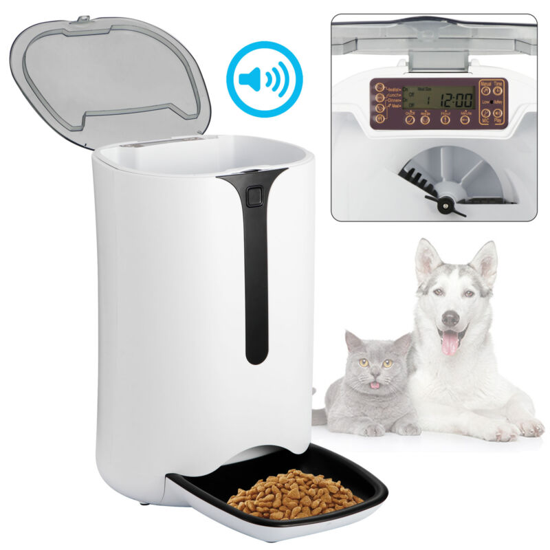 Automatic Pet Dog and Cat Feeder,4-Meal Auto Pet Feeder with Timer Programmable