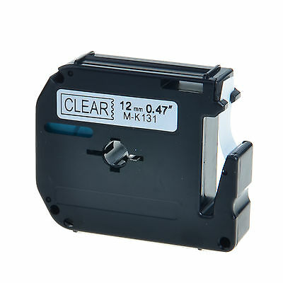 Black On Clear Tape For Brother 12mm M-k131 Mk131 Pt-70 P-touch Label Maker 1pk