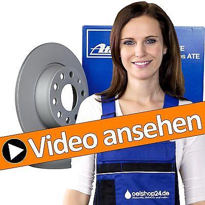 ATE Bremsscheiben Hinten Voll Ø282 + Bremsbeläge VW Passat 362 3C CC Touran 1T