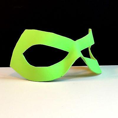 Neon Green Lantern Leather Mask Superhero Mask Halloween CosPlay Masquerade LARP