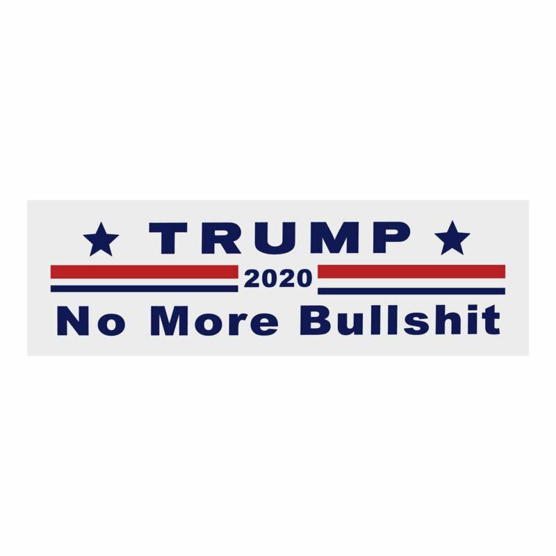 Donald Trump Bumper Sticker 2020 Keep America Great No More BS