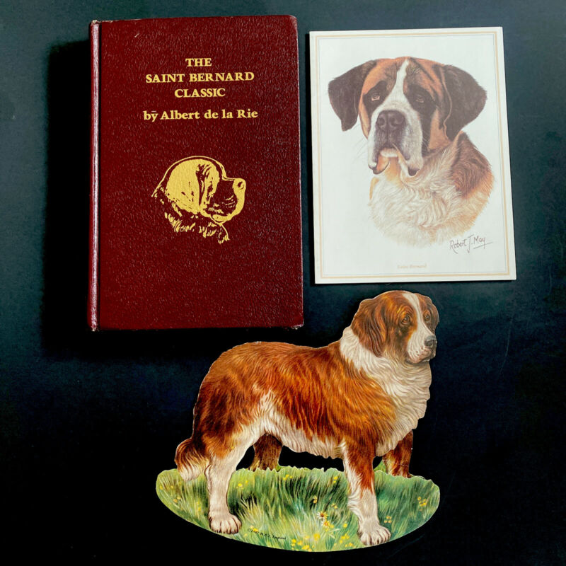The Saint Bernard Classic FIRST EDITION + Notecard and Die Cut Dog England St.