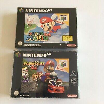 Mario Kart et Super Mario en boite box 64 PAL FAH version FR Nintendo 64 N64