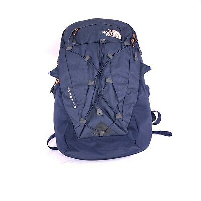 The North Face Navy Blue Unisex Borealis Backpack side straps cut off