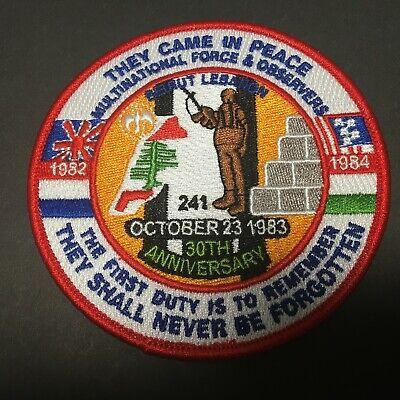 USMC 30TH ANNIVERSARY MULTINATIONAL FORCE BEIRUT LEBANON (30th Anniversary Patch)