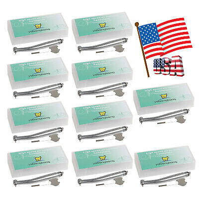 10 Yabangbang Dental Dentist High Speed Handpiece Push Button Head Turbine 4hole