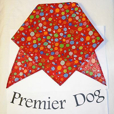 Party Balloons Red Fabric Dog Bandana / Scarf - 3 sizes to choose from! - Red Bandana Balloons