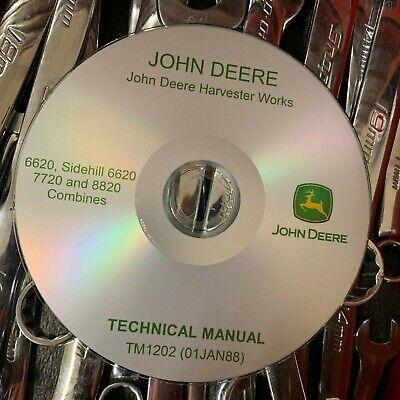 John Deere 6620 7720 8820 Combine Technical Service Repair Manual Tm1202 On Cd