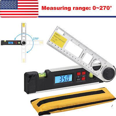 Lcd Digital Inclinometer Protractor 0270 Spirit Level Angle Finder Gauge Meter