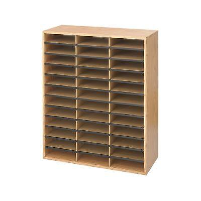Safco Products Woodcorrugated Literature Organizer 36 Compartment 9403 Eco...