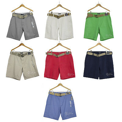 NWT NAUTICA men's Classic 100% Cotton Twill Soft Belted Chino Shorts MSRP $59