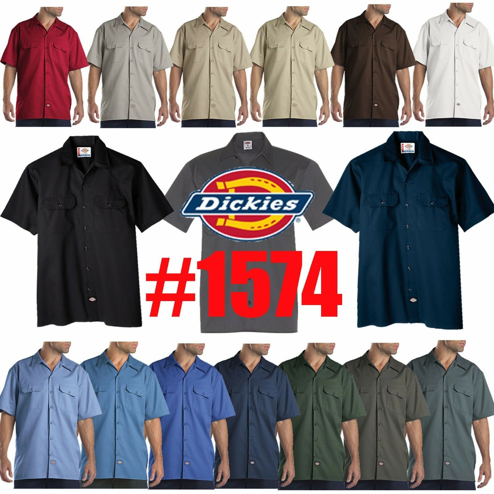 mens short sleeve work uniform button up
