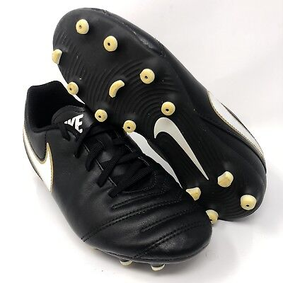 98e6cb0c7 Nike Tiempo Soccer Cleats 819195-010 Kids Size 1.5Y Black White