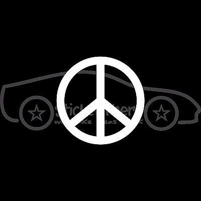 Peace sticker religious symbol decal vinyl white cheap Freedom Car Truck Laptop - Cheap Stickers