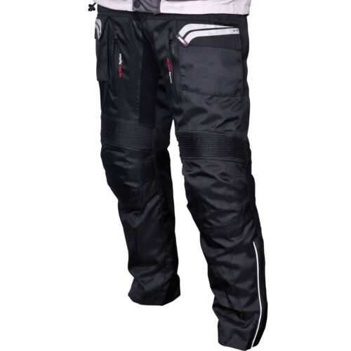 Tuzo+Outback+Motorcycle+Textile+Trousers+Black+CE+Armour+XS+Short+Leg+28+Inches