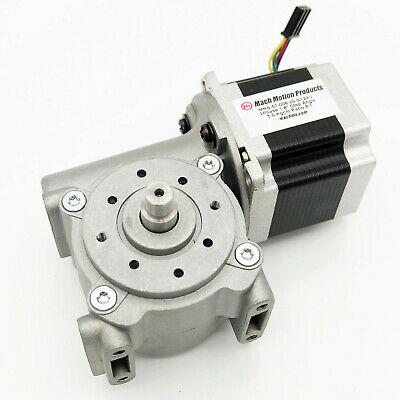 Nema 23 Stepper Motor And Right Angle Gearbox 81 Ratio Amp 280359-0 Connector