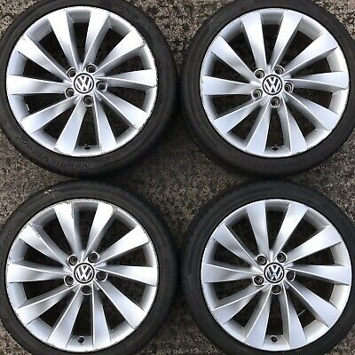 4 Genuine VW Scirocco Interlagos 18 Alloy Wheels Tyres 225 40 Passat CC 10 spoke