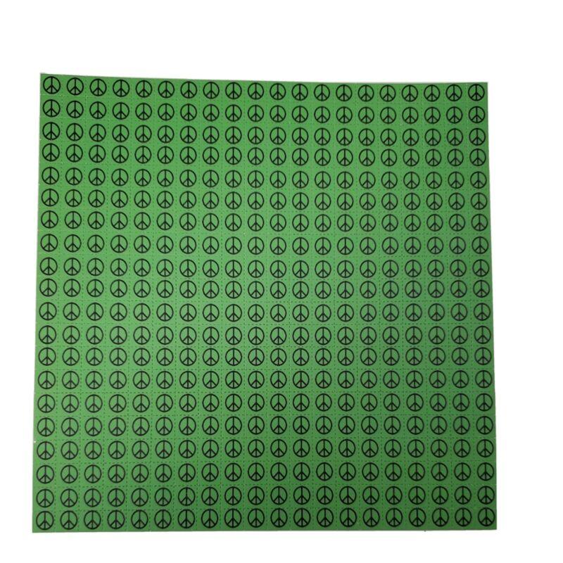 Green Peace Symbols Blotter Art Print 400 1cm squares