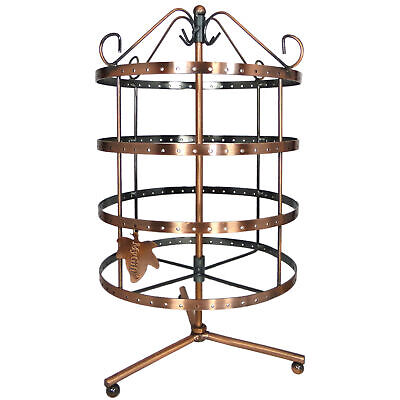 92 Pairs Copper Color Rotating Earring Organizer Earring Display Stand