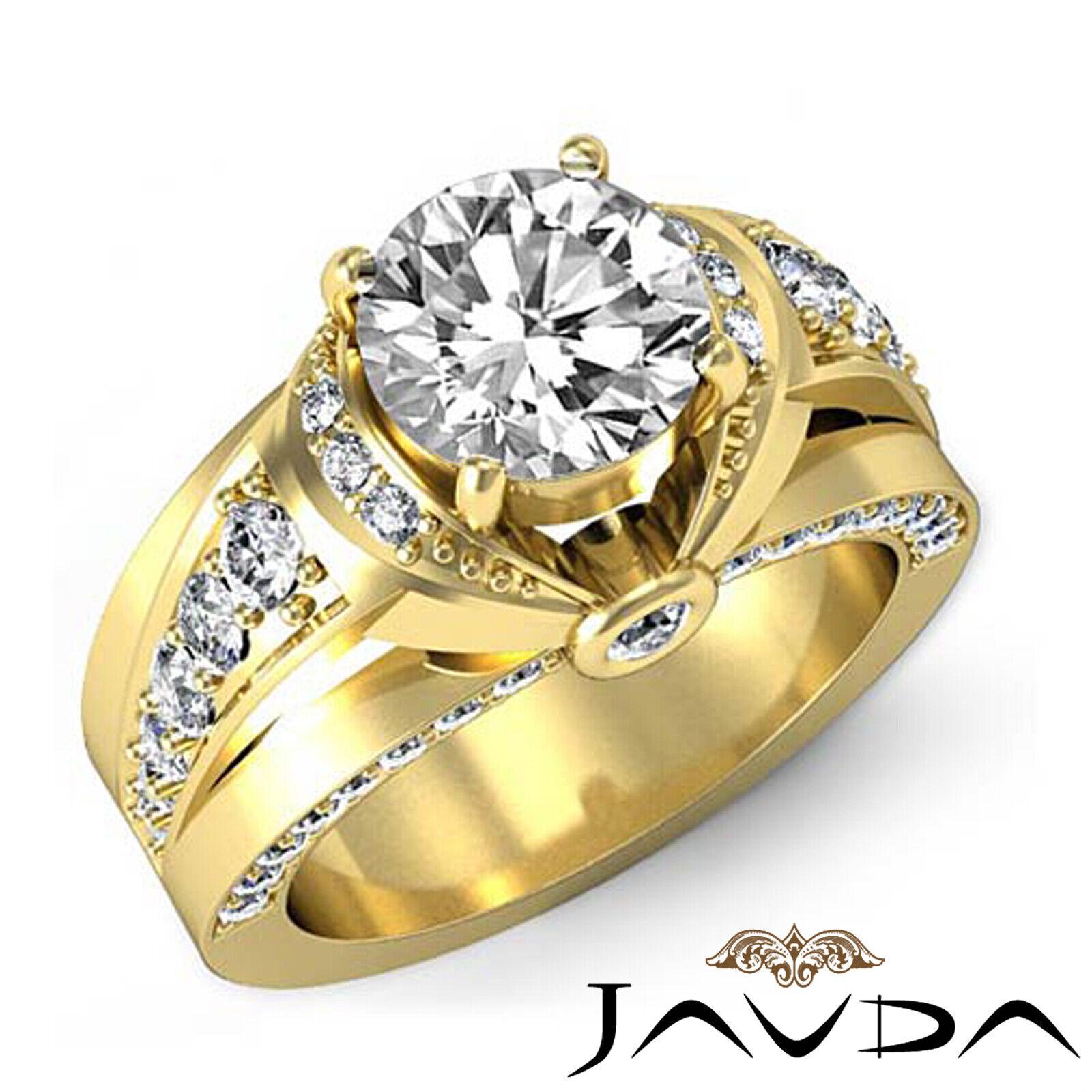 1.7ct Knot Classic Sidestone Round Diamond Engagement Ring GIA H-VVS2 White Gold 7