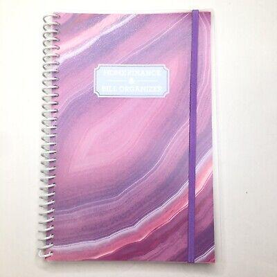 Home Finance Bill Organizer W Pockets Monthly Budget Planner Pink Purple