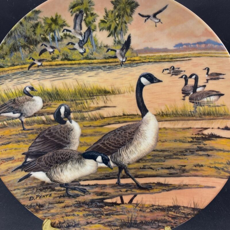 Collector Plate 1997 Dominion  Winter Home By Donald Pentz Canadian Geese