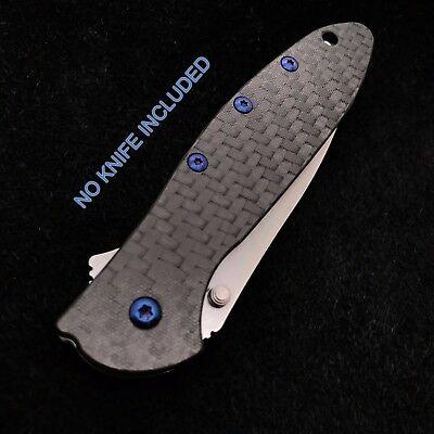 Blue Titanium Screw set for Kershaw Leek Carbon Fiber 1660CF Leek ( No Knife (Blue Titanium)